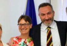 Alessia Vivaldi e il Presidente Simonelli