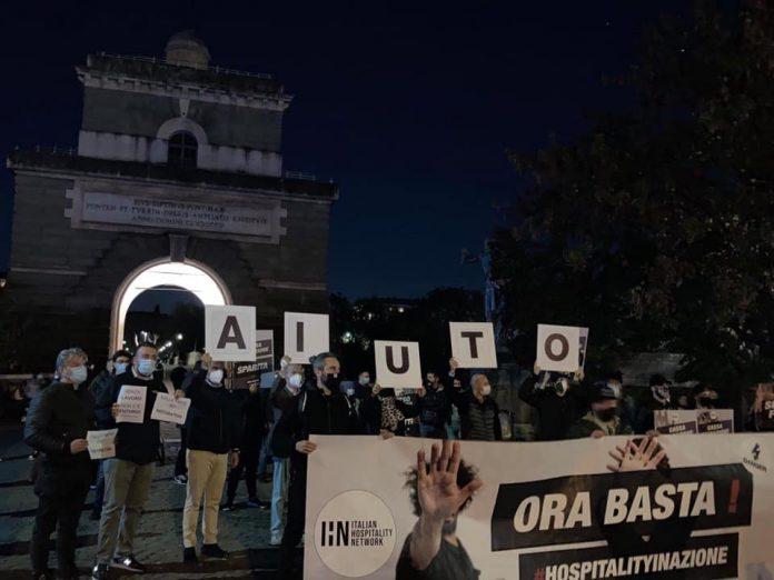 protesta ristoratori ponte milvio